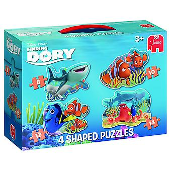 Jumbo Finding Dory 4 in 1 Shaped Jigsaw Puzzles