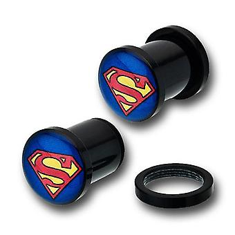 Superman acryl single flare stekkers