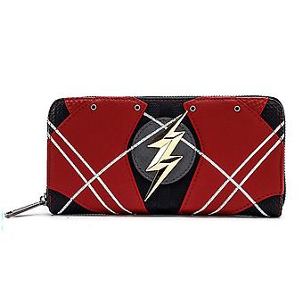 Flash Justice League Rüstung Zip um Brieftasche