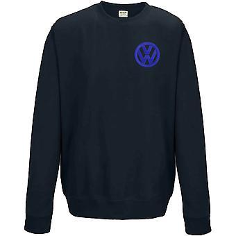 VW Motor Car Motoring - Logo - Blau Weiß - Sweatshirt