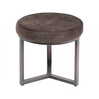 Libra Furniture Luxurious Brown Small Round Stool
