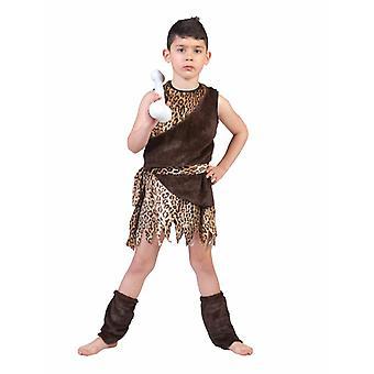 Steinzeit Jäger Neandertaler Kostüm Kinder Karneval Urmensch Fasching Kinderkostüm