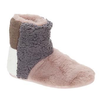Slumberzzz Womens/Ladies Patchwork Bootee Slippers