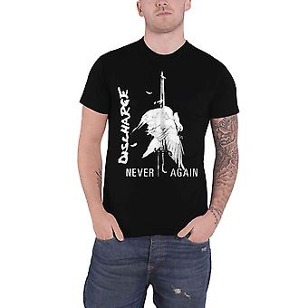 Discharge T Shirt Never Again Band Logo new Official Mens Black
