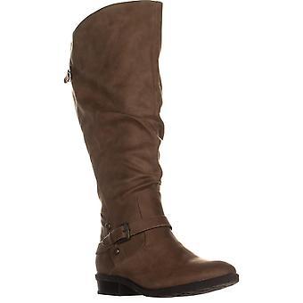 Bare Traps Womens Yanessa Fabric Closed Toe Mid-Calf Fashion Boots