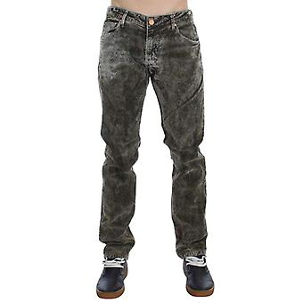 Green Wash Cotton Stretch Slim Fit Jeans -- SIG3564613