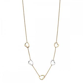 Elements Gold Yellow Gold Cut Out Heart Necklace GN315