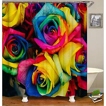Multi Colored Roses Shower Curtain