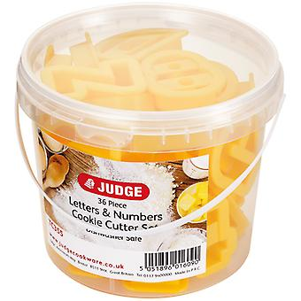 Judge Kitchen, 36 Pce Coloured Cookie Cutter, Letters & Numbers
