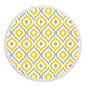 Yellow and Grey Moroccan Style  Beach Towel