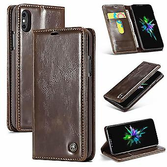 Case For IPhone Xs Max Brown Card Holder