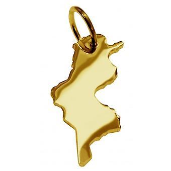 Hänge i guldgult-guld i form av TUNESIA