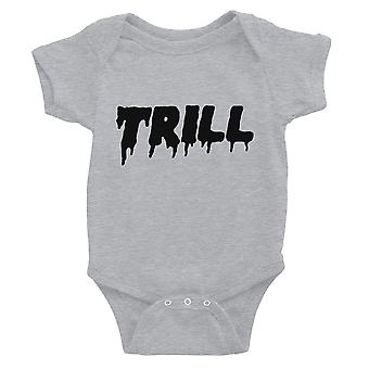 365 Printing Trill Baby Bodysuit Gift Grey For Baby Girl Birthday Baby Jumpsuit