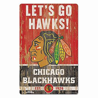 Wincraft NHL Holzschild SLOGAN Chicago Blackhawks 43x28cm