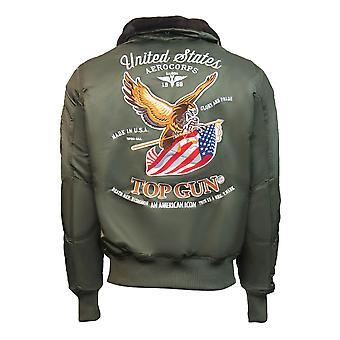Top Gun Eagle CW45 Bomber Jacket Olive