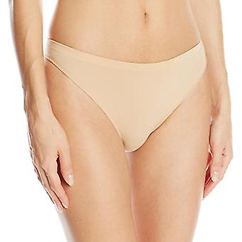 Calvin Klein Women's Pure Seamless Thong Panty, Bare, Medium