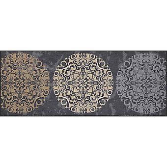 Salonloewe kakel cirklar dörrmatta tvättbar 75 x 190 cm