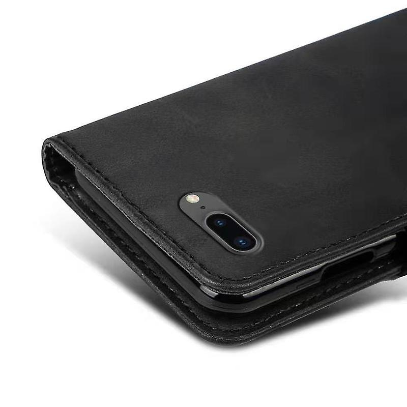 CaseGate phone case for Apple iPhone 7+ / 7S+ / 8+ case cover - with lock closure, stand function and card compartment