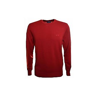 Armani Jeans Herren roter Wolle Pullover