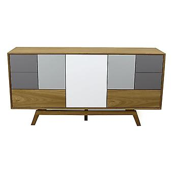 Fusion Living Danish Large Oak And Grey Sideboard