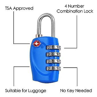 TRIXES 4 X Bright TSA Combination Padlock Set Multicoloured