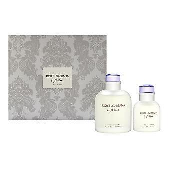Hellblau von dolce & Gabbana für Männer 2 Stück Set enthält: 4,2 oz Eau de Toilette Spray + 1,3 oz Eau de Toilette Spray