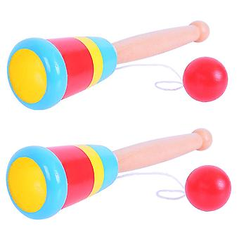 Bigjigs Toys Wooden Ball and Cup (Pack of 2) Traditional Gift, Stocking Filler