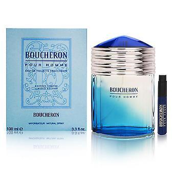 Boucheron pour homme by boucheron 3.3 oz eau de toilette fraicheur spray limited edition