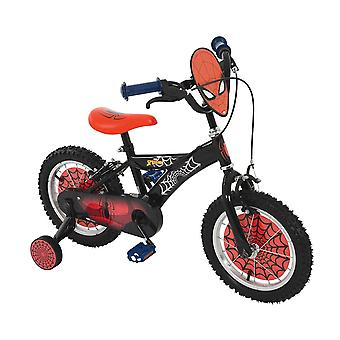 Spiderman 14 Inch Bike Black/Red MV Sports Ages 3 Years+