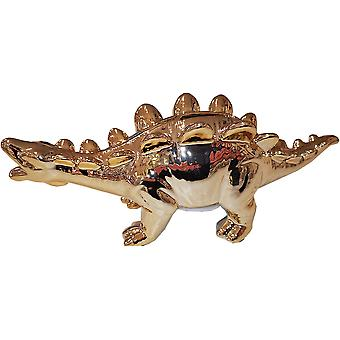 Gold Dolomite Dinosaur Money Box - Stegosaurus