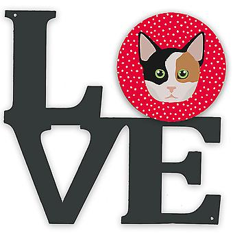 Carolines Treasures  CK5134WALV Munchkin Cat Love Metal Wall Artwork LOVE