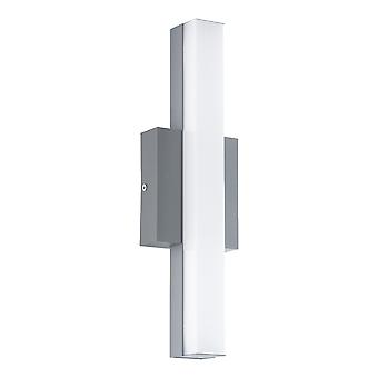 Eglo Acate - LED Outdoor Flush Wall Light Silver IP44 - EG94845