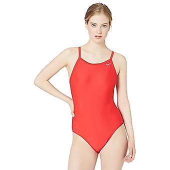 Nike Swim Women's Solid Racerback One Piece Swimsuit, University Red, 36
