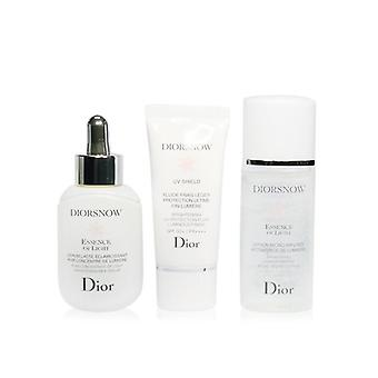 Christian Dior Diorsnow Ljusare Collection: Mjölk Serum + Micro-infunderas Lotion + UV Protection Fluid Spf50 + Pouch (låda något skadad) - 3st + 1pouch