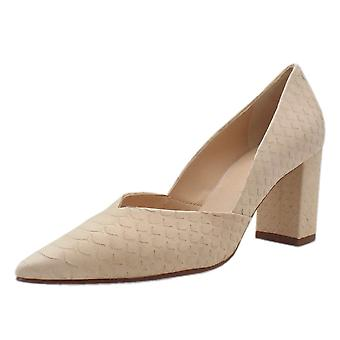 Högl 5-10 7507 Tiverton Pointed Toe Court Shoes In Natural