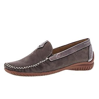 Gabor California Kvinner & Apos;s Wide Fit Loafer I Fumo