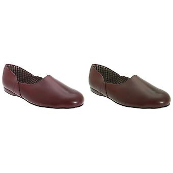 Sleepers Mens Abraham Deluxe Coated Leather Grecian Slippers