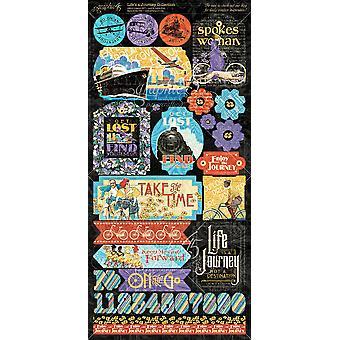 """الحياة & أبوس؛ق ملصقات بطاقة الرحلة 12""""X12""""-"""