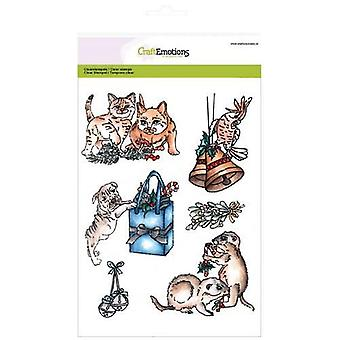 CraftEmotions Clear Stamps A5 - Christmas pets 3