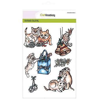 CraftEmotions Clear Briefmarken A5 - Weihnachten Haustiere 3
