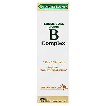 Générosité de la nature complexe b, 59 doses, liquide sublingual 2 oz