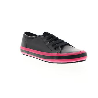 Camper Portol  Womens Black Leather Lace Up Low Top Sneakers Shoes