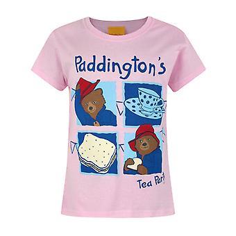 Paddington Bear Tea Party Pink Short Sleeve Girl's T-Shirt