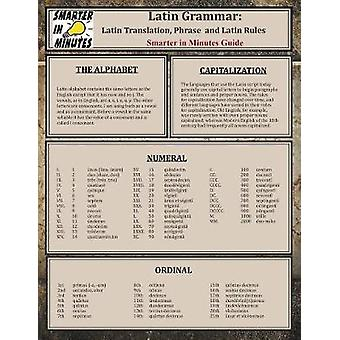 Latin Grammar Latin Translation Phrase and Latin Rules Guide by Allbus & Alivia