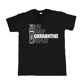 Essen Schlaf Quarantäne wiederholen, Herren-T-Shirt - Lockdown Isolation