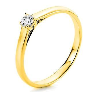 Anello diamante - 14K 585/- Oro Giallo - 0.15 ct. - 1A440G452 - Larghezza anello: 52