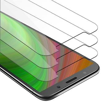 Cadorabo 3x Tank Foil for Huawei Y5 2018 - Protective Film in KRISTALL KLAR - 3 Pack Tempered Display Protective Glass in 9H Hardness with 3D Touch Compatibility