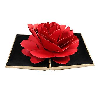 Ring box with 3D Rose in paper - Gold