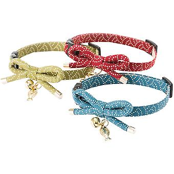 NECOICHI ZEN Fish Charm cat collar (Red)