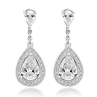 Tuscany Silver Women's Pendant Earrings in Silver Sterling 925 - with Cubic Zirconia 8.58.7809